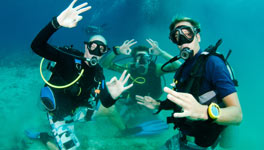 mixed weekend in Ibiza package deal, Scuba or Private Charter